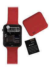 Умные Часы Smart Watch А1 red + Наушники подарок, фото 2