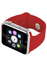 Умные Часы Smart Watch А1 red + Наушники подарок, фото 3