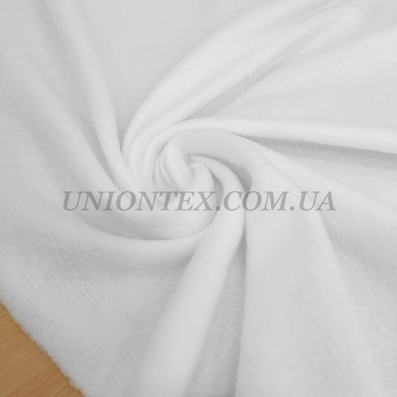 Тканина фліс білий
