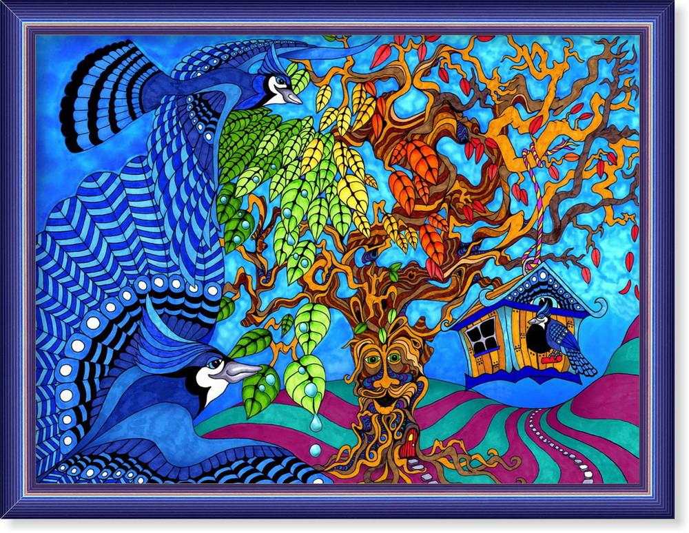 Репродукція сучасної картини «Казковий світ»