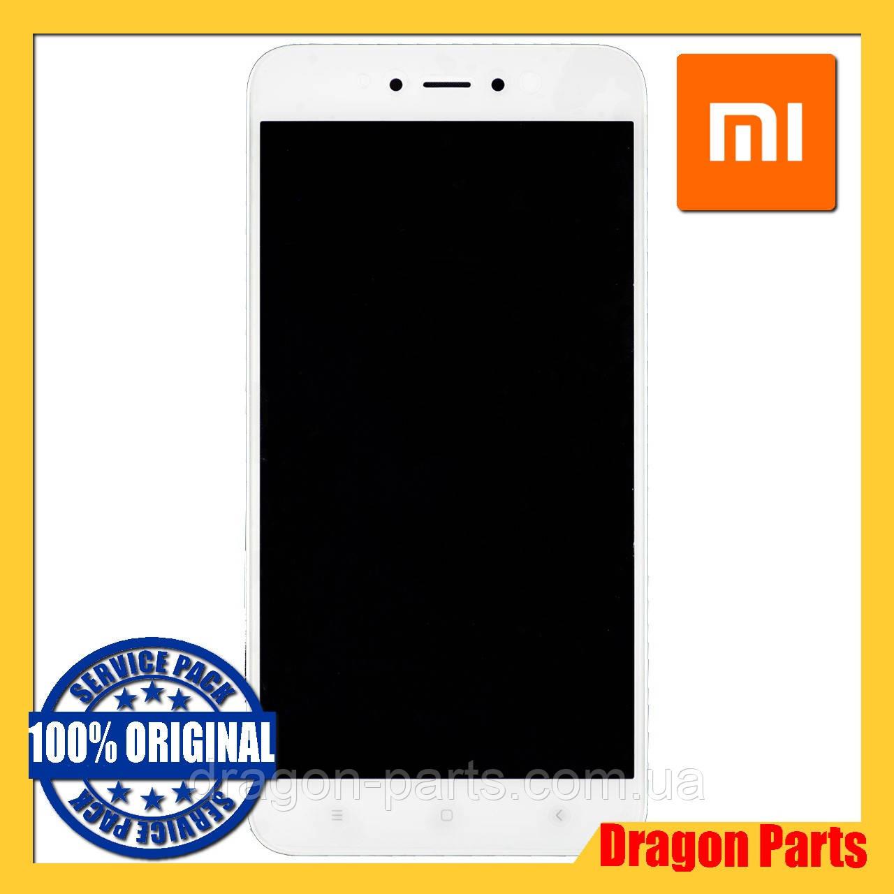 Дисплей Xiaomi Redmi Note 5A с сенсором и рамкой Белый White, оригинал