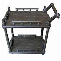 Столик сервировочный коричневый (массив дерева),фигурные  столешницы,  (70х64х40 см) Код:30524C