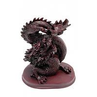 Дракон с хруной жемчужиной  каменная крошка (16х14 см) Код:2559