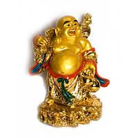 Хотей с посохом золотой (40 см) Код:18546