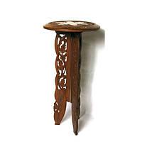 Стол  розовое дерево (62х30х30 см) Код:27413