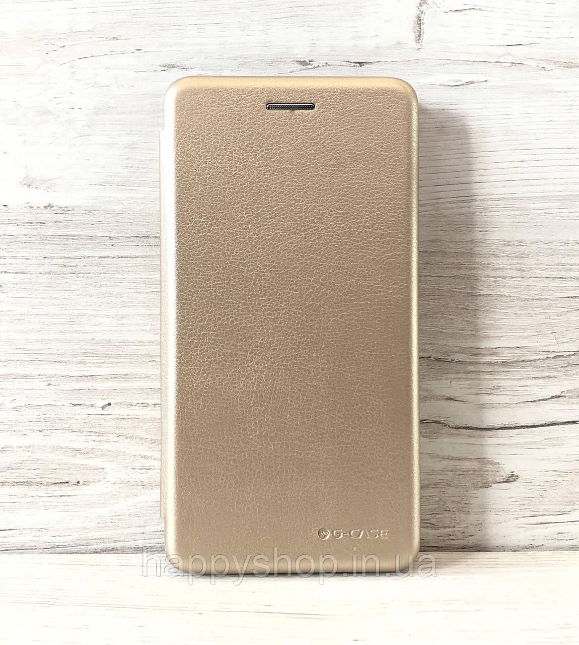 Чехол-книжка G-Case для Huawei Y5 2019 (Золотистый)