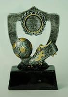 Статуэтка - Футбольный Кубок - Щ с бутсой и мячом, серебро Код:13334