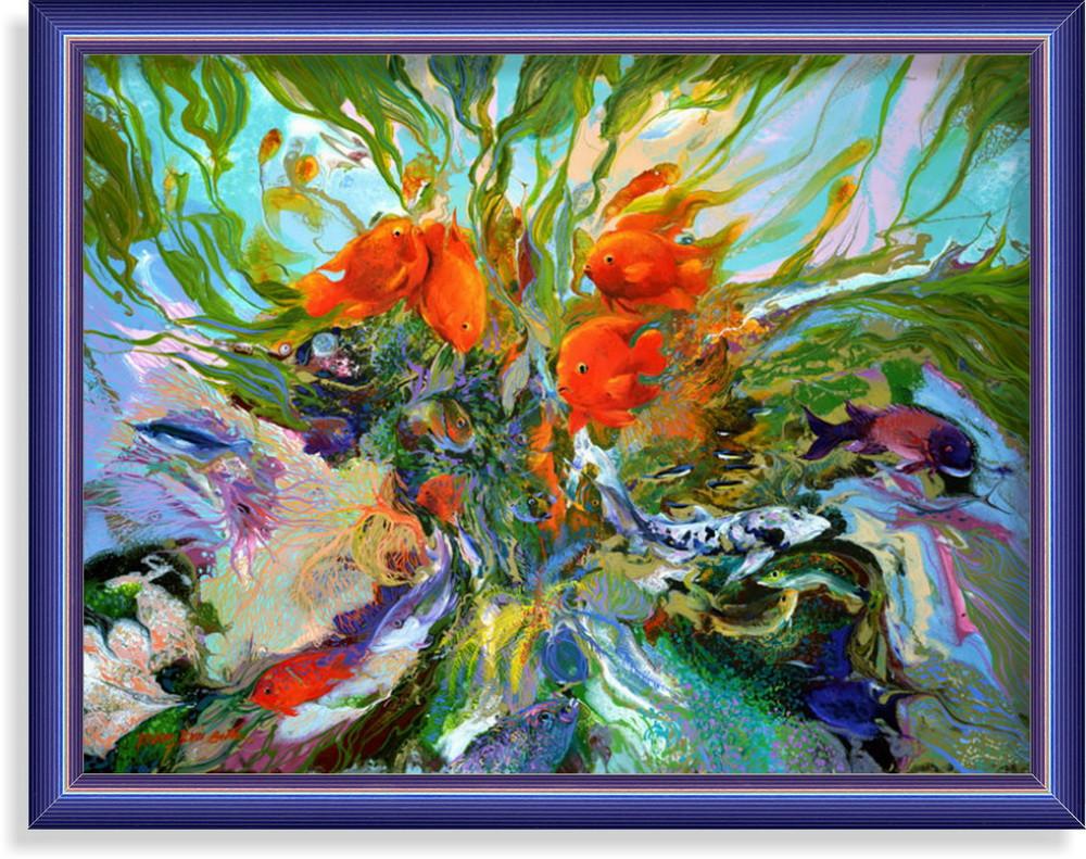 Репродукція сучасної картини «Золоті рибки»
