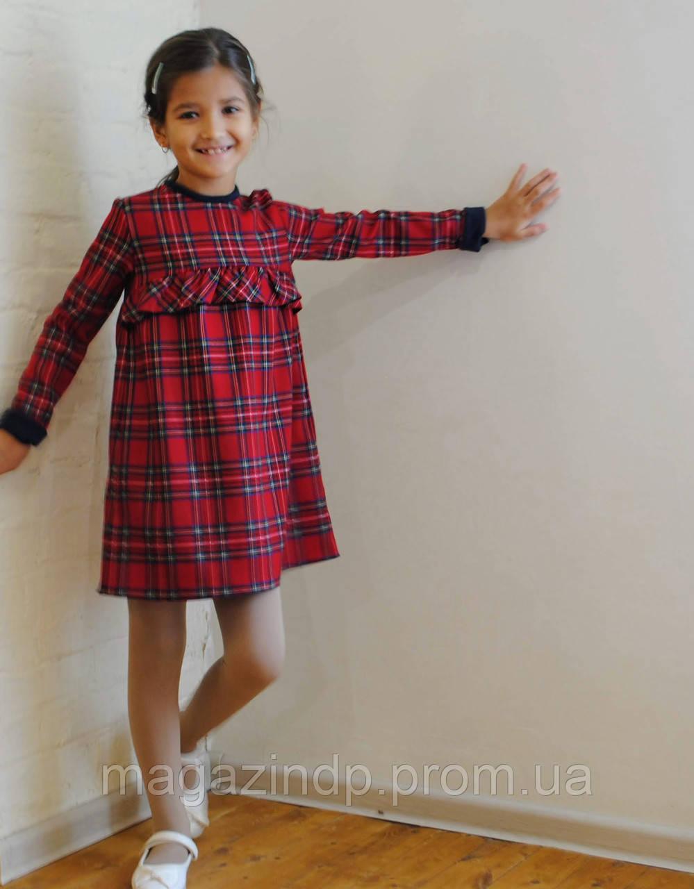 Осенне-зимнее платье детское в кчку 02 (93) Код:817736174