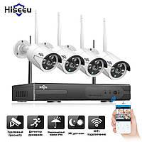 Комплект WiFi видеонаблюдения Hiseeu WNKIT-4HB612 на 4 камеры