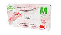 SFM Перчатки латексные неопудренные, цвет белый, размер M, 100 шт.