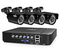 Комплект Full HD  видеонаблюдения AHD Hiseeu AKIT-4AHBB12 на 4 камеры