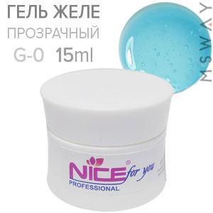 NICE Гель для наращивания 15ml G 0 желе прозрачный UV/LED