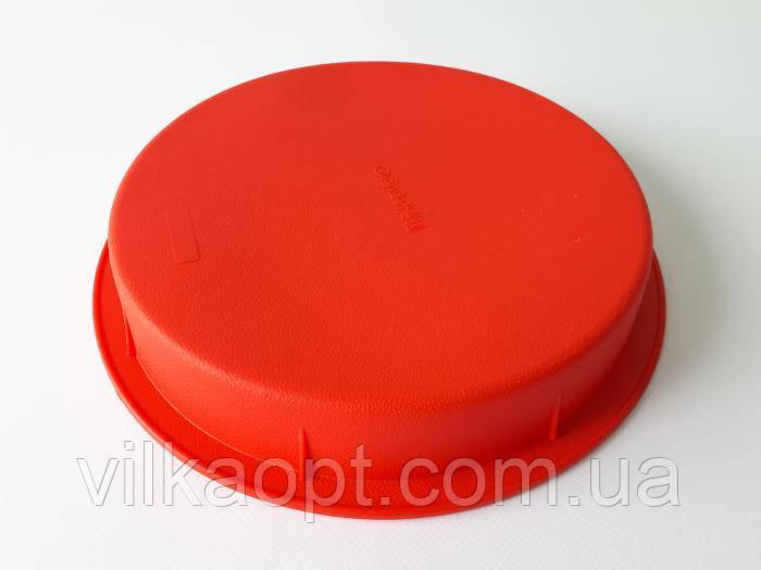 Форма силиконовая для выпечки d1-24,5cm; d2-22cm; h 4cm