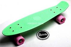 Penny Board. Мятный цвет. Гравировка