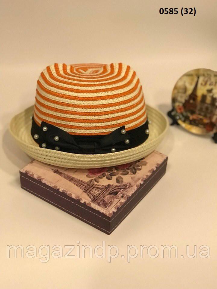 Ная летняя  детская шляпка 0585 (32) Код:718646978