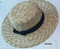 Ная летняя шляпка канотье 0576(32) Код:718760818