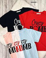 Женская  футболка «Вишенка» 5141 СО Код:967958927, фото 1