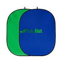 Фон в пружинной рамке Visico BP-028 2в1 Chroma Key (зелёный/синий) 150x200см