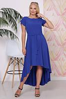 Женское, летнее, легкое нарядное платье, с поясом. Большого размера Р- 50,52,54,56 Софт