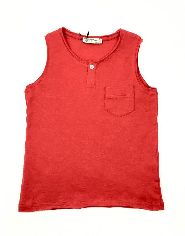 Майка для мальчика Woorage Стиль, красный (р.110,116,122,128,152)