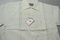 Мужская салатовая классическая рубашка с коротким рукавом 100% лен BIGNESS  (размеры 38.39.40.41.42.43)