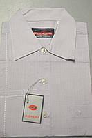 Мужская светло-сиреневая классическая рубашка с коротким рукавом 100% лен BIGNESS  (размеры 38.39.40.41.42.43)
