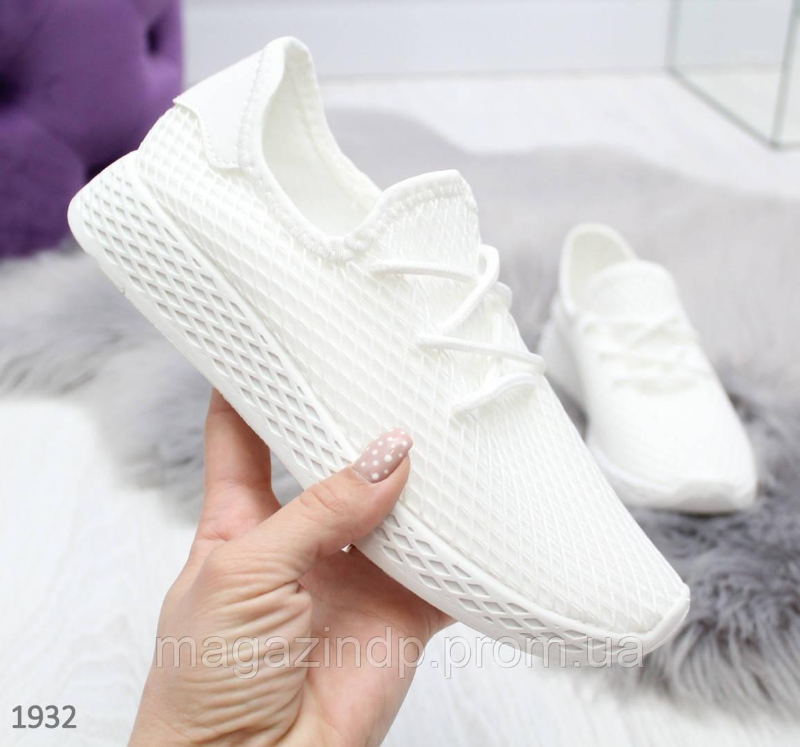 Легкие текные белые кроссовки на каждый день Код:973682892