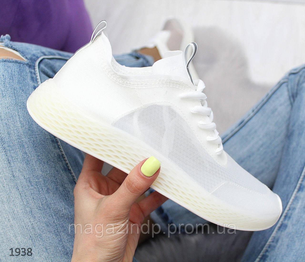 Летние силиконовые белые кроссовки Код:973682953