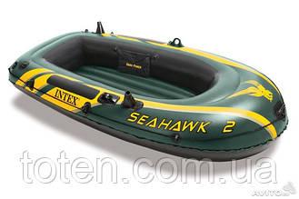 Intex надувний човен 68346 Seahawk 2 Set (2-х місний)