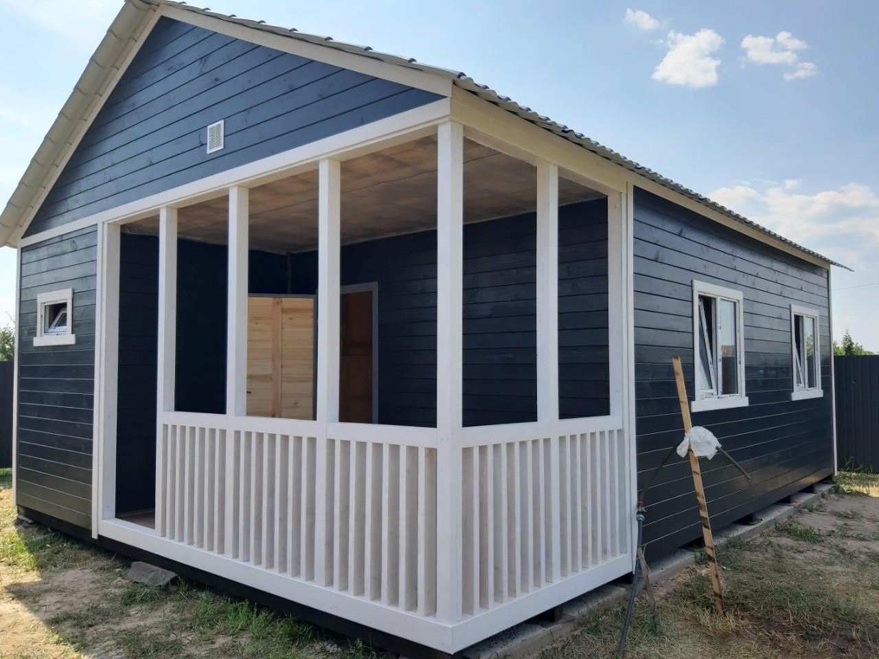 Дачный домик 6 х 8 со встроенной террасой