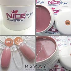 NICE Гель для наращивания 15ml G 6 желе розовый UV/LED, фото 3
