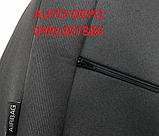 Чохли на сидіння Рено Логан,Чохли для Renault Logan 2013 - sedan ( спинка цілісна) Nika, фото 6