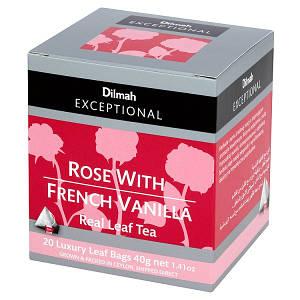 Чай черный Роза и французкая ваниль Dilmah Exceptional, 20п.х2г