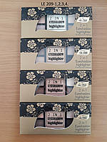 Тени для век + хайлайтер 9-цветные La Rosa LE209 №1, фото 1