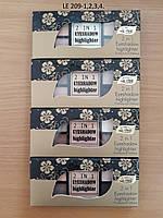 La Rosa Тіні для вік+хайлайтер 9-колірні  №3 (209-3-LE)