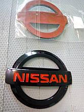 Эмблема NISSAN  98х85 мм  черно/красный