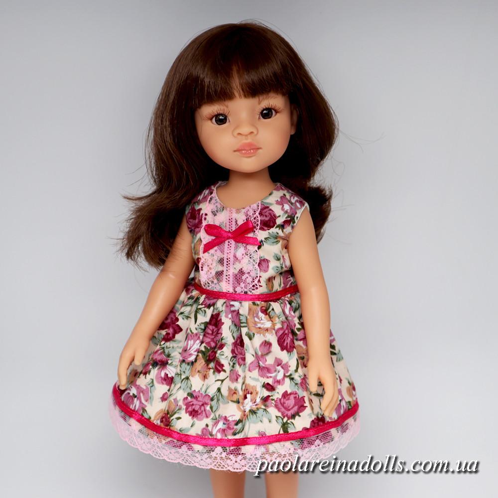 """Платье """"Яркая роза"""" для кукол Паола Рейна"""