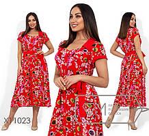 Женское летнее платье из штапеля батал 48-56 размер