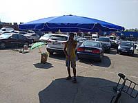 ЗОНТ КРУГЛЫЙ 3.5 мдля Пляжа, Садовый, Торговый, БРЕЗЕНТ с клапаном, 10 спиц (диаметр 1см), чехол