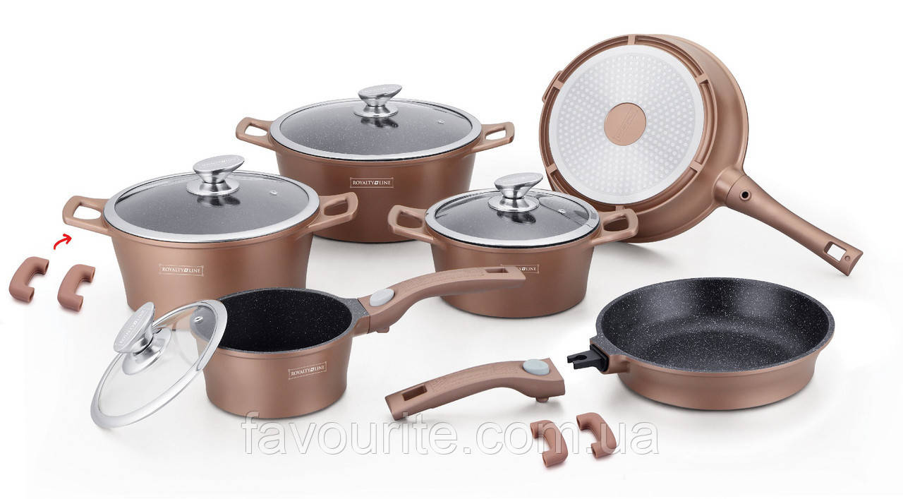 Набор кастрюль Royalty Line RL-ES2014M Copper 14pcs
