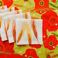 Раннер лен , Авторский текстиль, (Колосковая Украина)