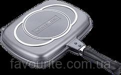 Сковорода гриль двусторонняя Royalty Line RL-DF28M Silver 28 cm