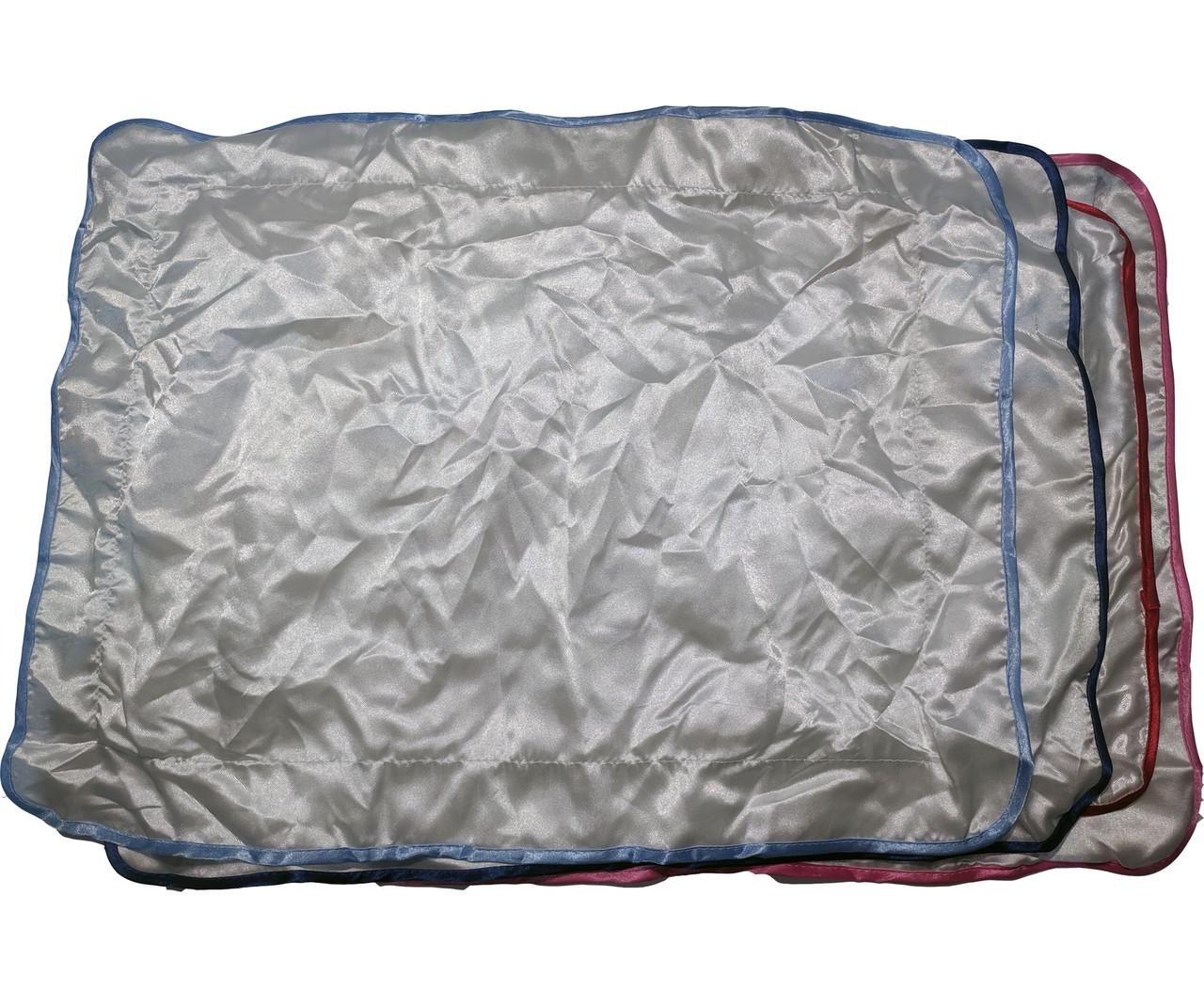Подушка сублимационная атласная цветная с КАЙМОЙ 45х35 СИНЯЯ