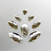 Стразы для инкрустации Лодочка. цвет Crystal(стекло).Размер 7х15мм.Цена за 1шт.