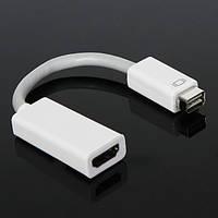 Переходник mini DVI Mac - HDMI Air Apple adapter вывод изображения на плазму