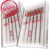 Иглы швейные ORGAN Япония для швейных машин 130/705H 90/14