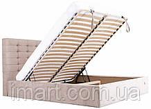 Кровать мягкая двуспальная Эрика Richman с подъемным механизмом. Ліжко м'яке двоспальне з підйомним механізмом