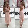 Платье женское с рюшами  руд246