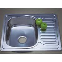 Врізна кухонна мийка з нержавіючої сталі PLATINUM 6350 Сатин 0.8 мм., фото 1